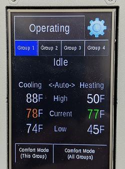 HVAC Controller LCD touchscreen