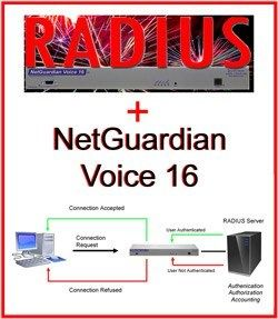 RADIUS Support for NetGuardian Voice 16 G2